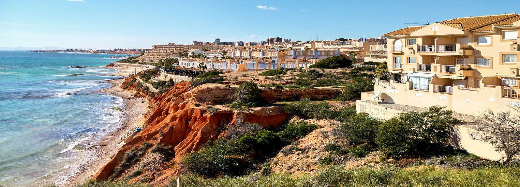 Villas and building plots front line in Orihuela Costa