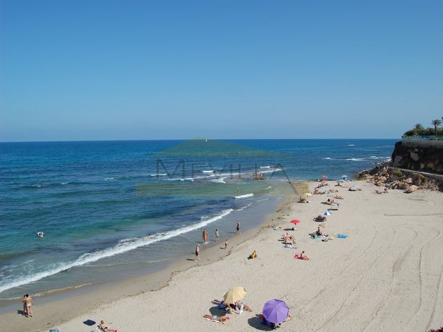 The most popular beach in Cabo Roig