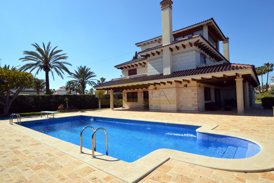 The villa with swimming pool