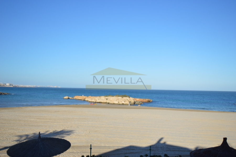 A very popular beach in Cabo Roig